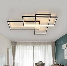 led modern comtemporary alumilium painting ceiling light flush mount wall light with remoter dimmer for