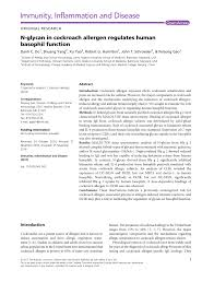 PDF) Recombinant Allergens for Diagnosis of Cockroach Allergy