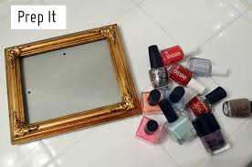 diy nail polish rack picture frame diy unixcode