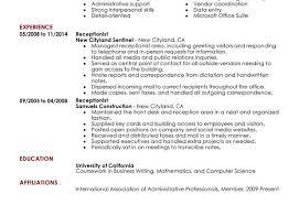 Office Receptionist Resume Dental Receptionist Resume Examples