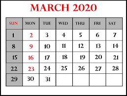 Editable Calendar March 2020 Free Printable March Calendar 2020 Template In Pdf Word Excel