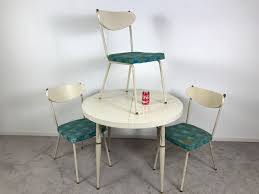 vintage steel furniture. Contemporary Steel Vintage MidCentury Modern Metalcraft Set Of 3 Chairs With Round Table  Styled Steel Furniture Intended