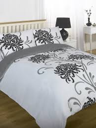 Duvet Quilt Cover Bedding Set Black White Single Double King ... & Duvet Quilt Cover Bedding Set Black White Single Double King Kingsize Super  King Adamdwight.com