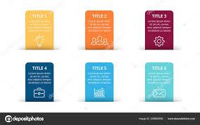 Chart Paper Presentation Vector Paper Arrows Infographic Banners Diagram Labels