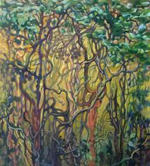 high summer oil painting by wnc artist dixie damron