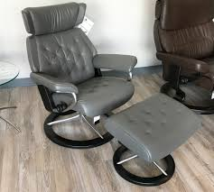grey leather recliner. Stressless Skyline Signature Base Paloma Metal Grey Leather Recliner Chair By Ekornes A