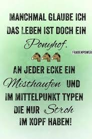 Ponyhof Pferde Zitate Witzi