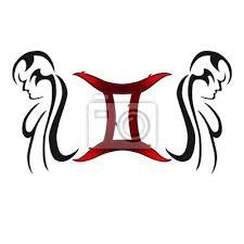 Fototapeta Gemini Tribal Tattoo