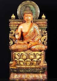 sold wood vitarka mudra buddha statue 36
