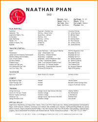 Actors Resume 100 Acting Resume Template Word Professional Resume List 63