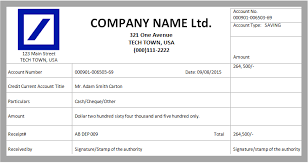 Deposit Receipt Sample Recepit Format Omfar Mcpgroup Co