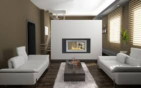 montreal 2 sided fireplace in black