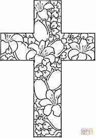 Coloring Pages Coloring Pages Flowers In Cross Page Free Printable