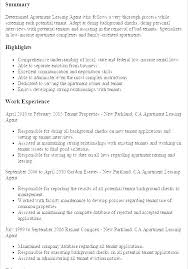 Sample Resume For Leasing Consultant Leasing Consultant Resumes Leasing Professional Resume Cover Letter