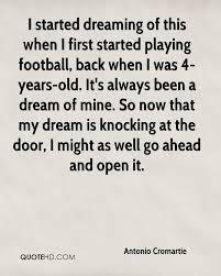 Football Dream Quotes Best Of Antonio Cromartie Quotes QuoteHD