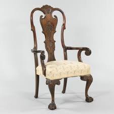A Queen Anne Style Arm Chair 09 08 12 Sold $356 5