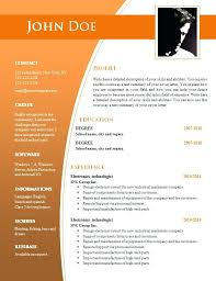 Microsoft Word Free Resume Templates Noxdefense Com