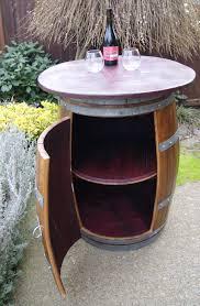 wine barrel furniture plans. Reclaimed Wine Barrel Table With Cabinet Storage 700 Furniture Plans I