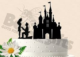 Amazoncom Magical Castle Proposal Wedding Cake Topper Handmade