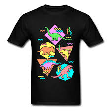New Design Printing Us 7 32 40 Off Nineties Dinosaur Tshirt Mens T Shirt Printing Tees New Design T Shirt Youth Birthday Gift Clothes T Rex Black Tops 100 Cotton In