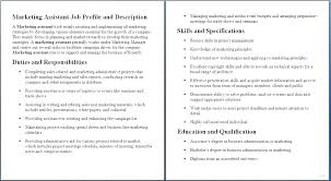 Free Sample Job Description Template With Example A Good Resume Work ...