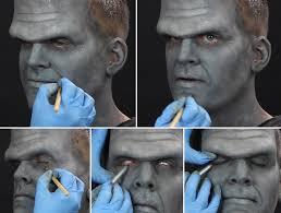 frankenstein makeup tutorial step 4