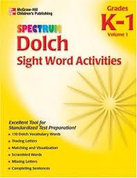 Activities Word Amazon Com Spectrum Dolch Sight Word Activities Volume 1