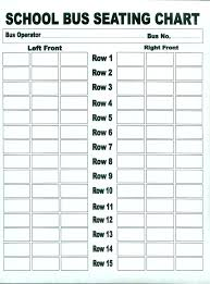 Seating Chart Template Excel 55 Passenger Bus Seating Chart Template Bedowntowndaytona Com