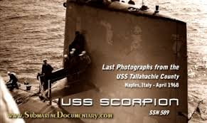 「1968 the crews USS Scorpion, SSN-589」の画像検索結果