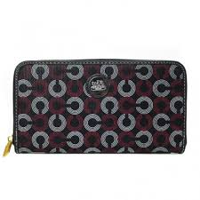 Coach Op Art Large Red Wallets DVW