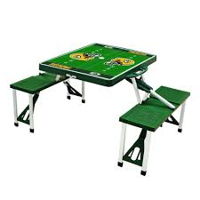 green bay packers sport plastic outdoor patio picnic table