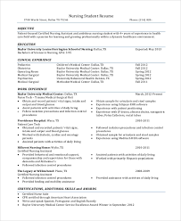 Nursing Graduate Resume Sample Nursing Student Resume 8 Examples In Word Pdf