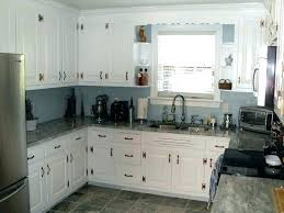 blue kitchen walls white cabinets slate with granite subway tile cost light ike