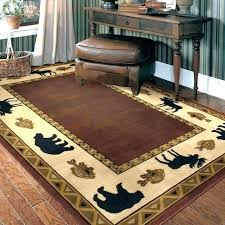 unique western area rugs and western area rugs western area rug rugs country style pine cone