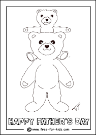 colouring page of a child on his father s shoulders