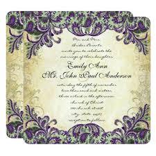 Wedding Invitations Templates Purple Purple And Green Wedding Invitations Black And Green Wedding