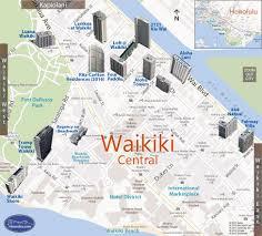 waikiki  central condo map honolulu oahu hawaii