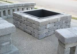 how to build an outdoor fireplace with cinder blocks using cinder blocks for fire pit design