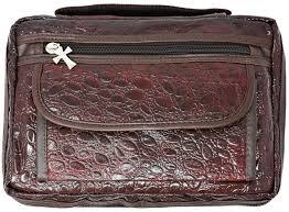quality ccw cowhide leather brown alligator design day planner cover com