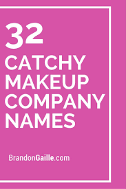 32 catchy makeup pany names slogans