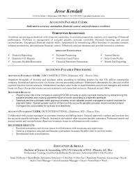 Accounting Clerk Resume Objective Example Resume Templates