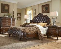 brown leather bedroom furniture. AICO Michael Amini - Bedroom Furniture Brown Leather