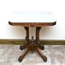 side tables antique round side table marble top parlor on casters style