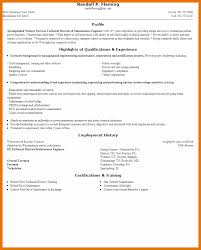 100 Resume Maintenance Supervisor Resume Sample Mechanical