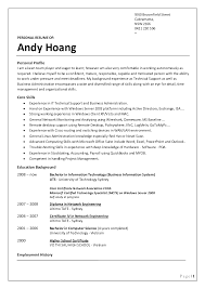 Resume Format Australia Sample Resume Template Ideas
