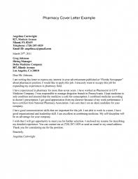 Pharmacy Cover Letter Example Ideas Collection Cover Letter For