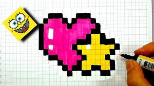 Pixel Art Tuto Coeur Et Toile Love Youtube