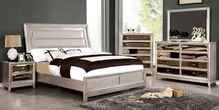 Silver Mirrored Bedroom Furniture Furniture Of America Cm7295sv Ek Cm7295sv N Cm7295sv D Cm7295sv M
