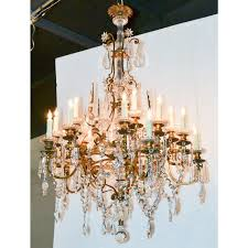 19th century french gilt bronze crystal chandelier
