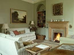 trendy living room fireplace interior